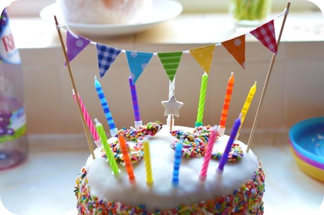 Rainbow Sprinkles Birthday Cake 1st and 3rd Joint Birthday