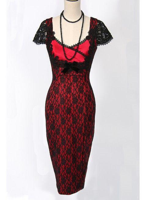 Lust Motif Wiggle Dress
