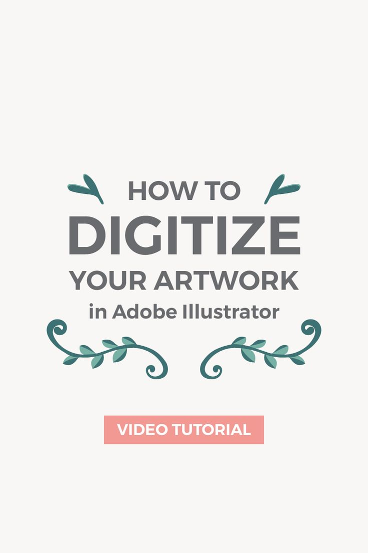 In this tutorial, I'm going to show you how to turn a simple hand-drawn illustration into a vector using Adobe Illustrator. #Illustrations