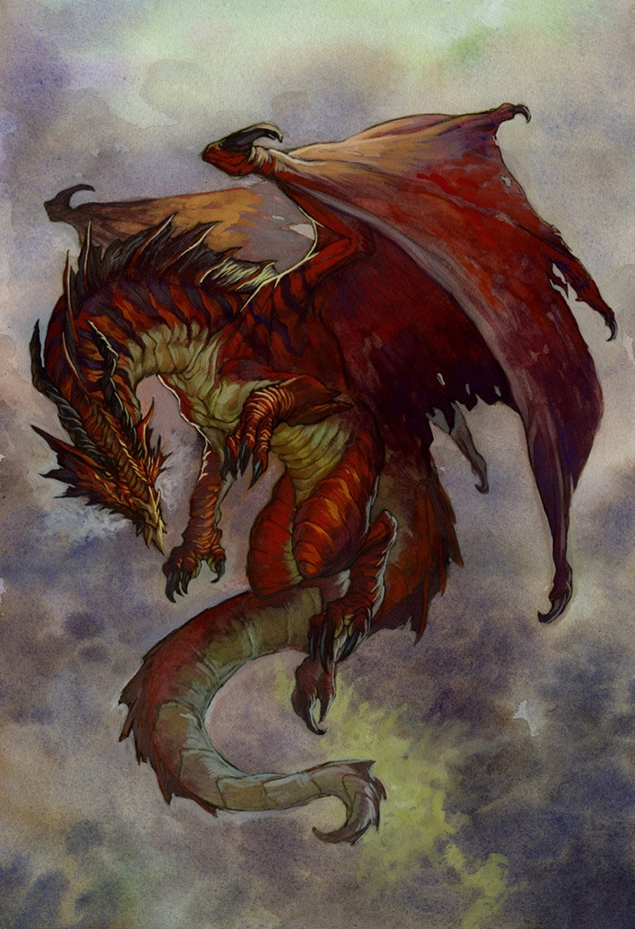 Red Dragon Codex by VinodRams | Dragons | Pinterest | Red ...
