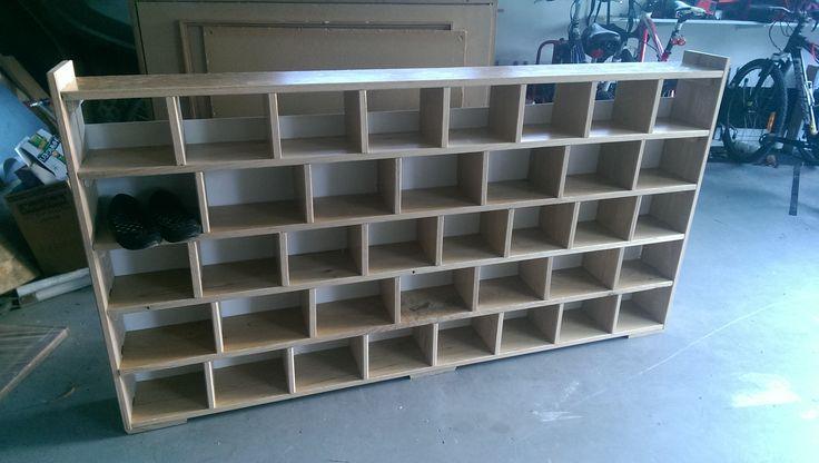 Solid Oak Pre-School Shoe Rack. A one-day project - using recovered oak floor boards. guyhooker.com