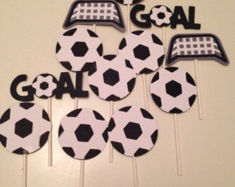 Soccer PRINTABLE Party Cupcake Toppers INSTANT DOWNLOAD by