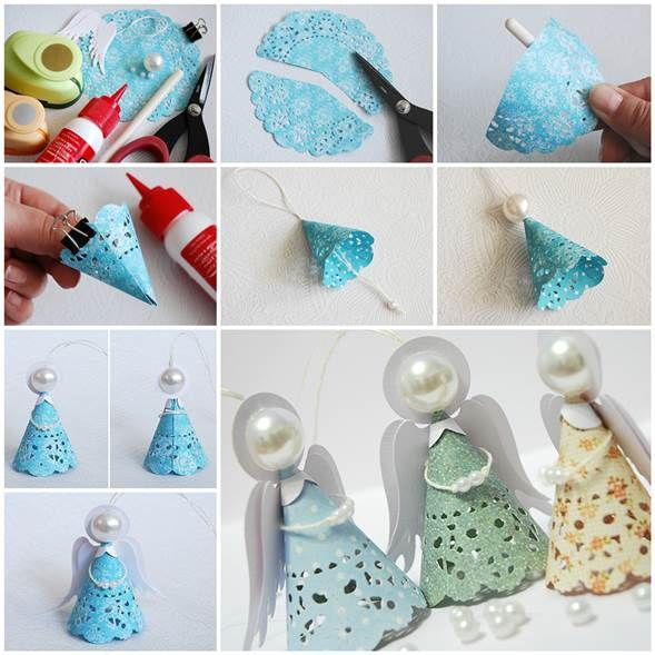 DIY Cute Napkin Paper Angels 3