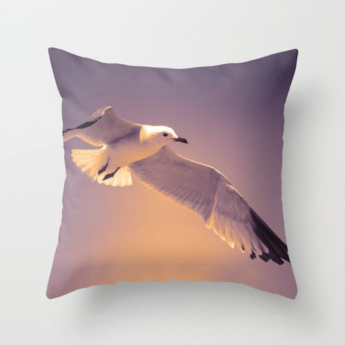 Summer Bird Throw Pillow by Loredana | Society6
