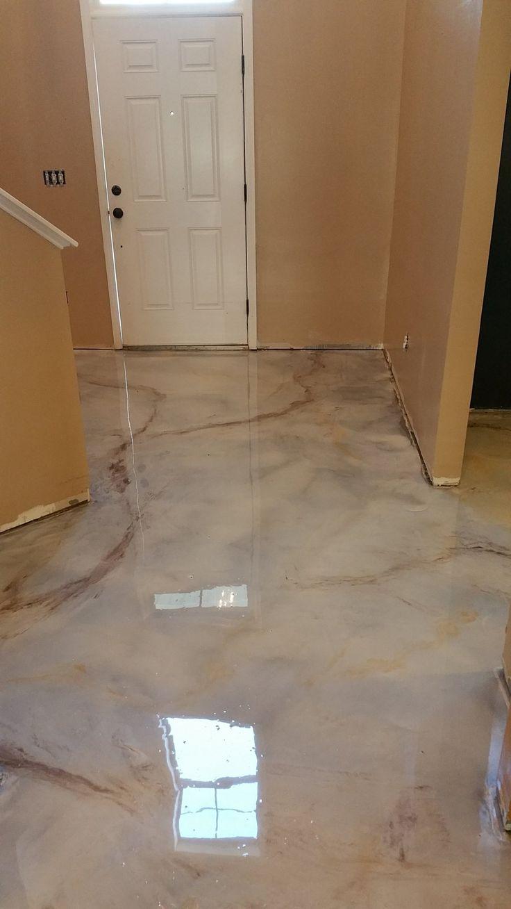 Decorative Concrete/ Raleigh/ North Carolina/ Marble/ Stained Concrete/ Epoxy/ Metallic/ Interior