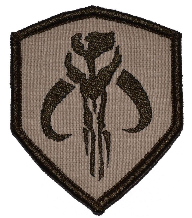 Amazon.com: Mandalorian Bantha Skull Mercenary 3x2.5 Shield Military Patch / Morale Patch - Desert Sand: Home & Kitchen