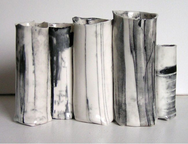 Janni Godtliebsen. black and white ceramics are the most beautiful things i've ever seen