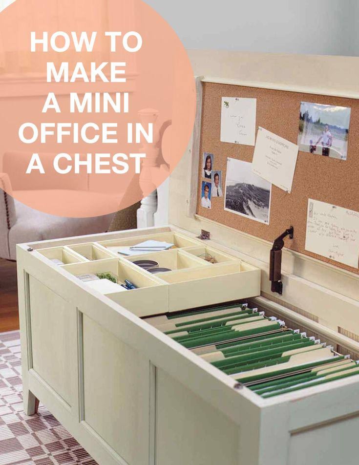 Mini Office in a Chest How-To | Martha Stewart Living