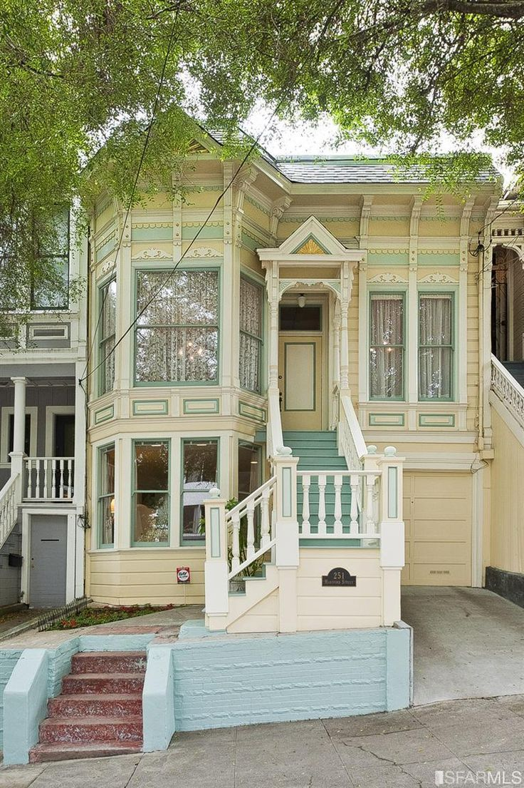 San francisco i 39 d buy this house and the one across the for Exterior yellow paint