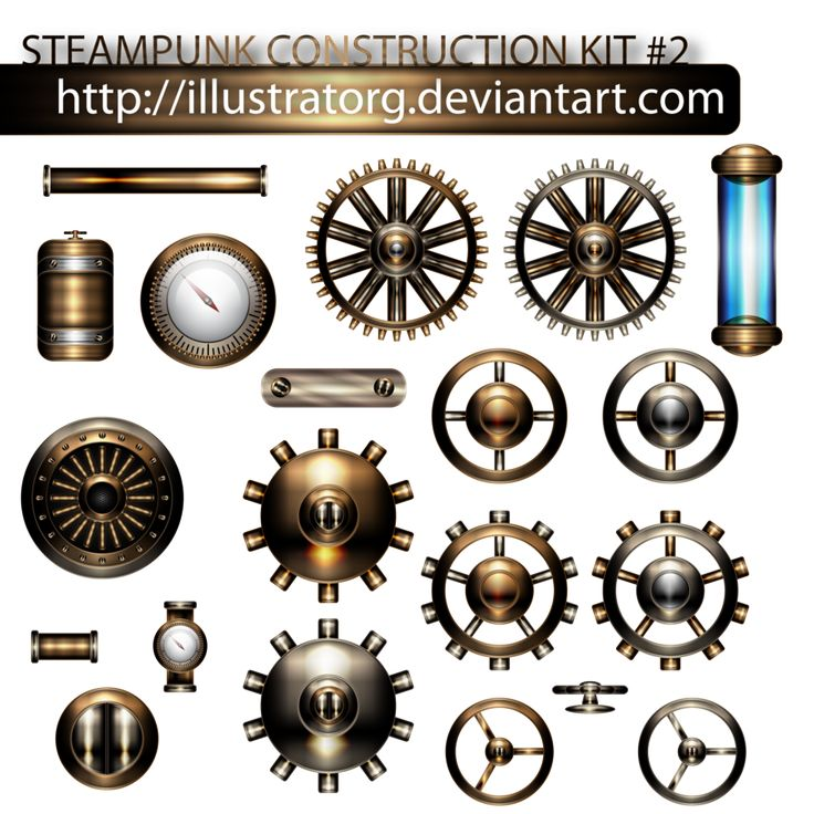 STEAMPUNK CONSTRUCTION KIT 2 by IllustratorG on DeviantArt