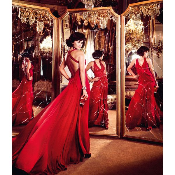 Penelope Cruz is Red Hot in the 2013 Campari Calendar ❤ liked on Polyvore