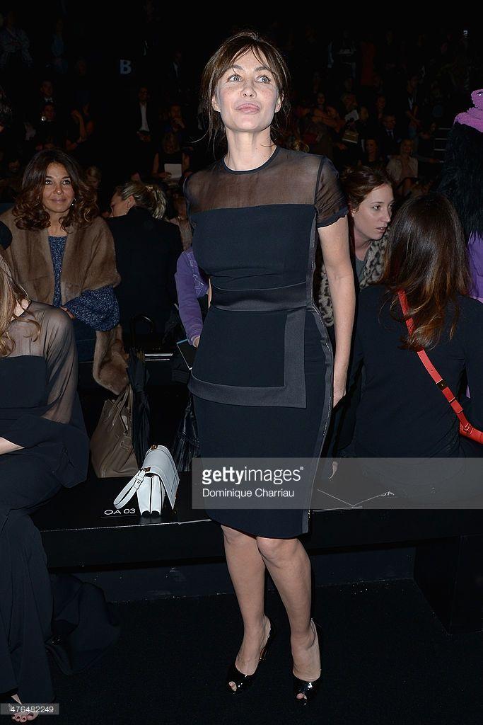 Photo d'actualité : Emmanuelle Beart attends the Elie Saab show as...
