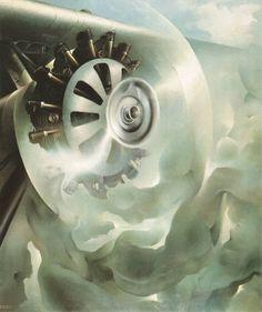 Tullio Crali, Motore, seduttore di nuvole (1939)