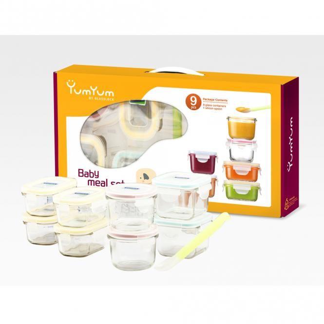 Glas Frischhaltedosen - Baby Meal Set - von GlassLock neunteilig