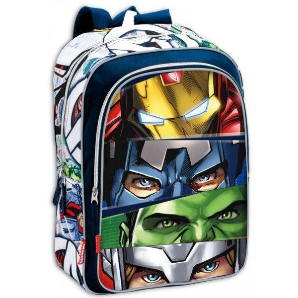 Marvel Avengers Assemble rygsæk med Ironman, Captain America, Hulk, Thor