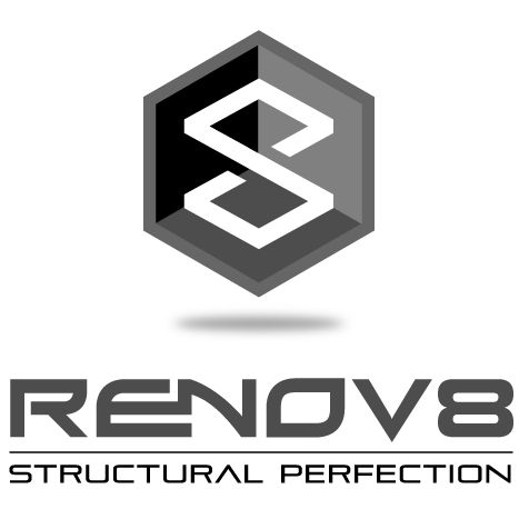 Final Logo chosen by client for a construction and renovations company. Emphasis on sturdy structures. Masculine font used to imply strength and reliability.