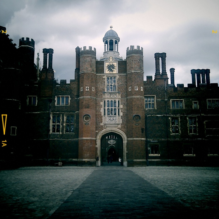 Hampton Court Palace, the front door. The Tudor palace of Henry viii. I miss England.
