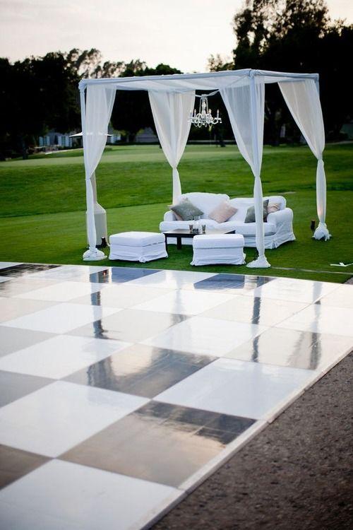 16 best dance floor decor images on pinterest wedding for Outdoor dance floor ideas