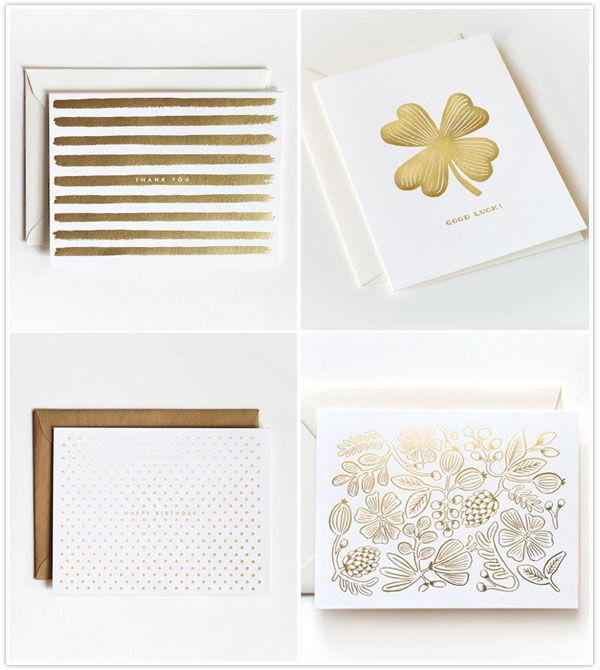 Loving Rifle Paper Co.'s new Gold Rush stationary line #camillestyles #gold