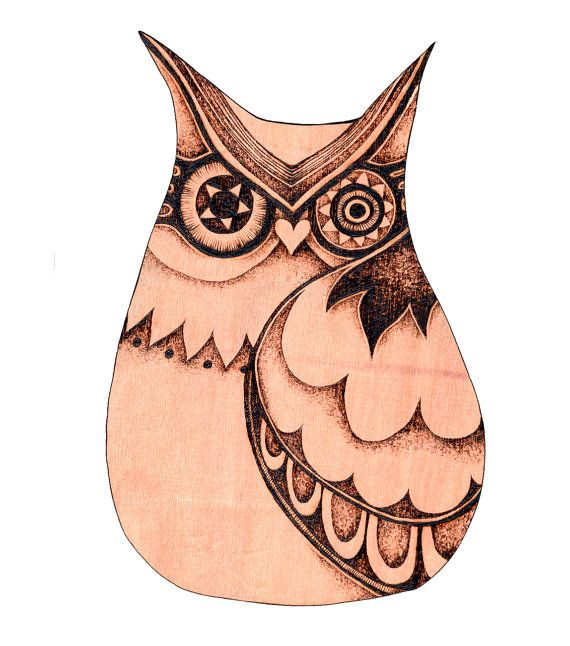 Owl Wall Hanging with Pyrography Wood burning by GlenoutherCrafts