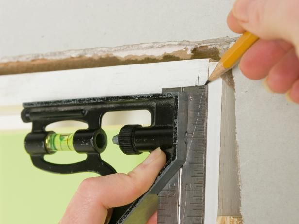 The experts at DIYNetwork.com give step-by-step instructions on how to install a door casing.
