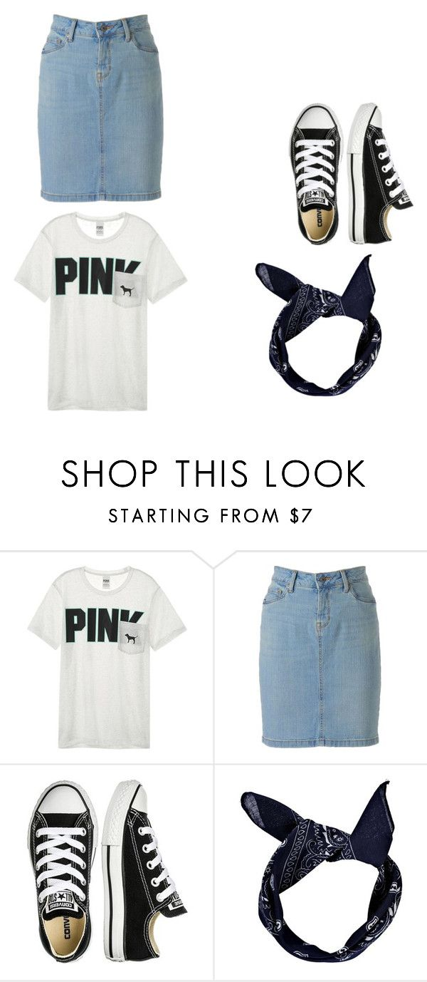 """black n white"" by skirtsandshirts on Polyvore featuring Victoria's Secret, SONOMA Goods for Life, Converse and Boohoo"