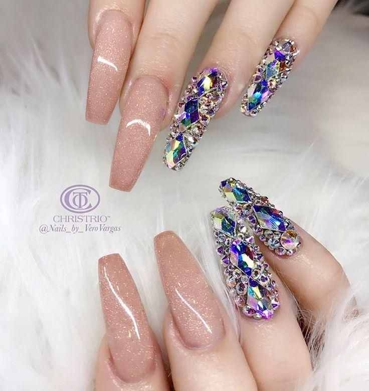 719 best uñas .°× images on Pinterest   Fingernail designs, Glitter ...