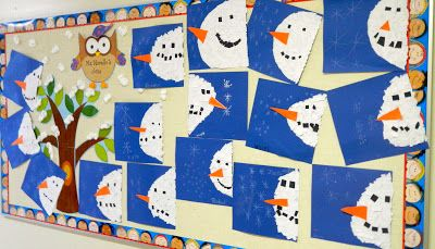 that artist woman: How to make a Snowman Banner