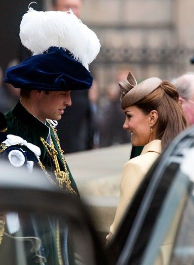 The Duke and Duchess at the Thistle Service for the installation of The Prince William, Earl of Strathearn, as Knight of the Thistle at St Giles Cathedral in Edinburgh.  Cute moment: Edinburgh Scotland, Duchess Of Cambridge, The Duchess, Thistles Service, British Monarchy, Prince Williams, Royals High, Williams Kate, Gile Cathedrals
