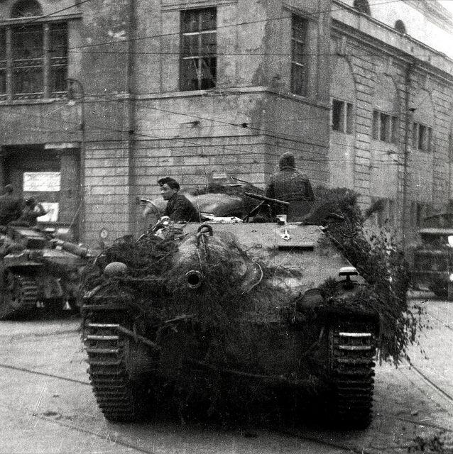 german hetzer tank | German Hetzer tank destroyer in Prague in 1945 | Flickr - Photo ...