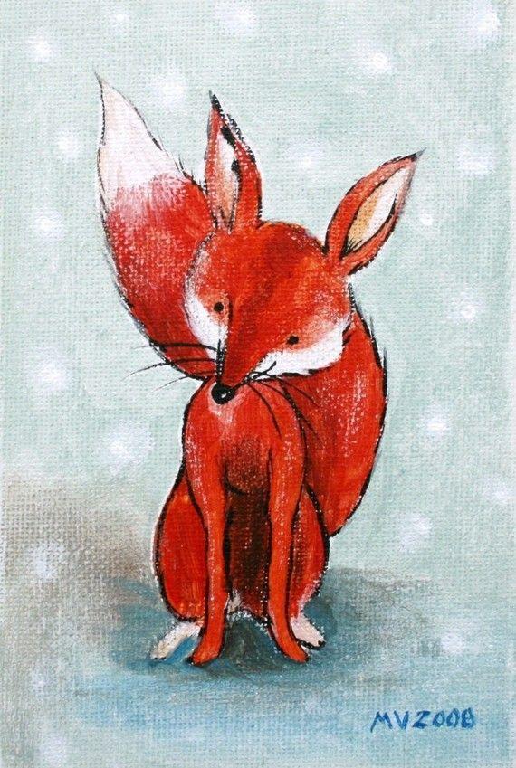 Red Red FOX PRINT 8x10 by JAustinRyan on Etsy, $16.00