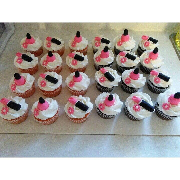 Nail Cakes Bakery: Nail Polish And Lip Stick Cupcakes Made By Jessica's