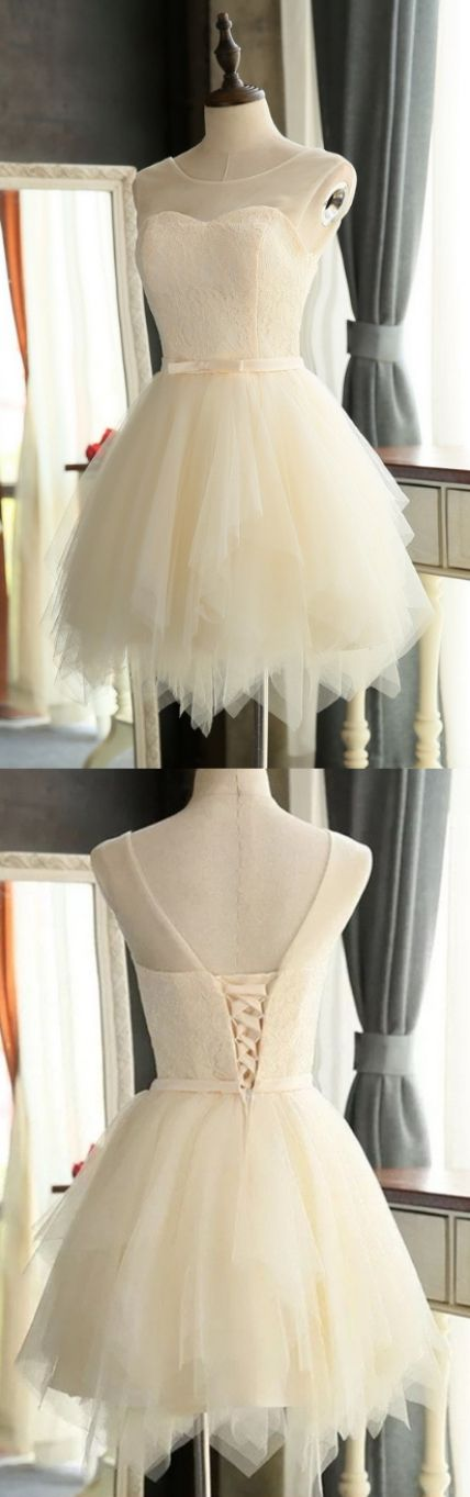 Ivory A-line/Princess Prom Dresses, Ivory Prom Dresses, A-line/Princess Prom Dresses, Short Homecoming Dresses, Short Prom Dresses, Dresses For Girls, Dresses For Homecoming, Dresses For Prom, Prom Dresses Short, Backless Prom Dresses, Prom Dresses For Short Girls, Prom Short Dresses, Homecoming Dresses Short, Tulle Prom Dresses, Short Dresses For Prom, Girls Prom Dresses, Short Tulle dresses