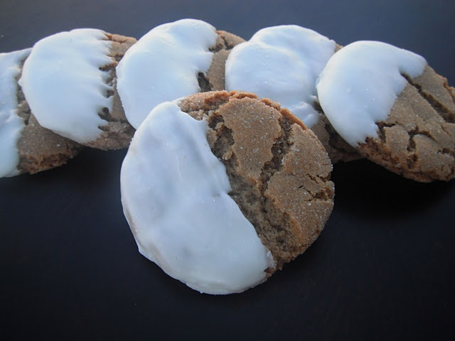 ... Getaway & those Soft White-Chocolate-Dipped Molasses Cookies