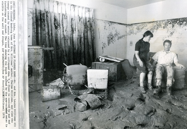 I never forget how repugnant the smells were!!!!! Interior, Teton Dam Flood - Rexburg, ID Courtesy - www.waterarchives.org