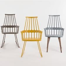 Kartell comb back chair