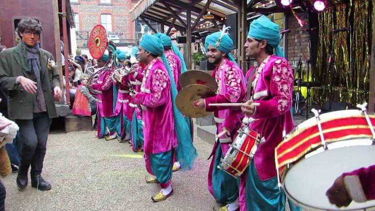 Rajasthan Heritage Brass Band performing at UK 2