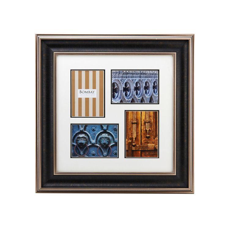 Bombay Hudson 4-Opening Collage Frame (Bombay 4 Opening Hudson Collage), Black, Size 5x7 (Glass) Bombay Hudson 4-Opening Collage Frame (Bombay 4 Opening Hudson Collage), Black, Size 5x7 (Glass)