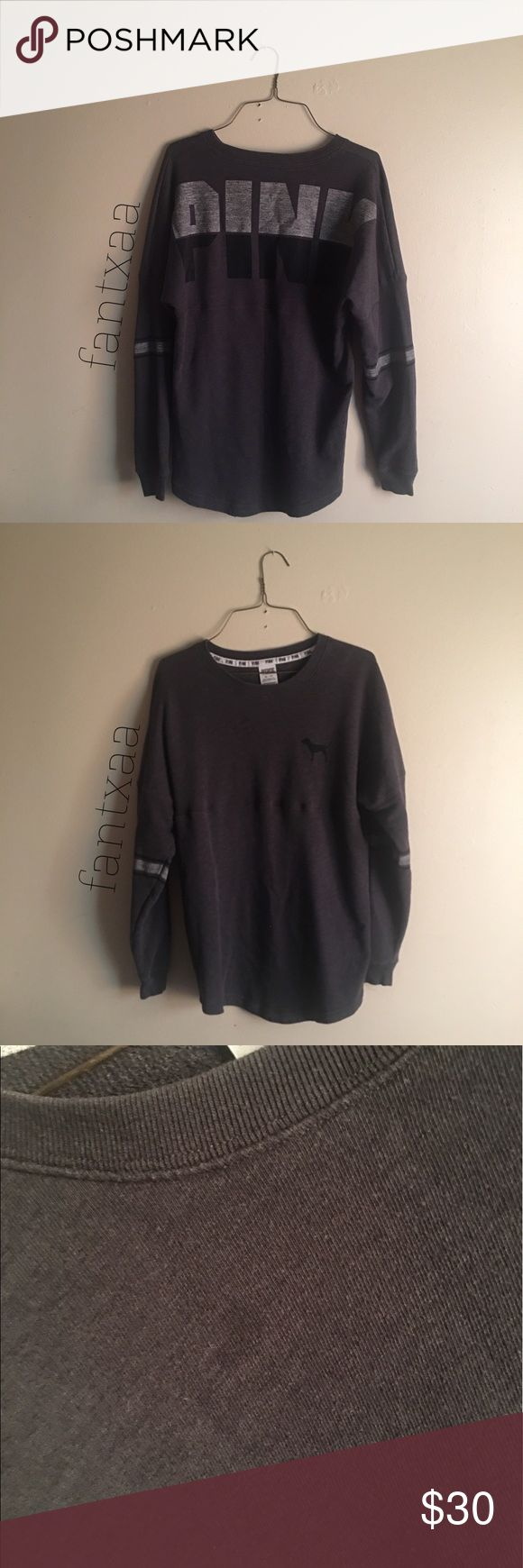 Victorias secret pink crewneck in deep grey 9/10 condition. Open to trades and offers. Tiny stain near collar. Harder to find than most, It was too small for me. PINK Victoria's Secret Sweaters Crew & Scoop Necks