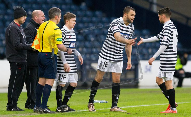 Queen's Park's Kenny Mackay makes his debut during the SPFL League Two game between Queen's Park and Elgin City.