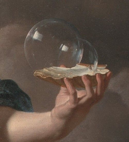 Boy Blowing Soap Bubbles - Allegory on the Transitoriness and the Brevity of Life (detail), Karel Dujardin, 1668