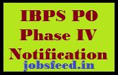 IBPS PO Phase IV Notification 2014-2015 Recruitment Phase 4 Apply Online