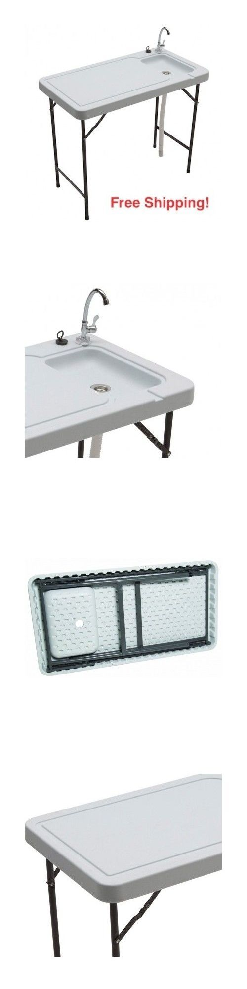 Coleman fish cleaning table re camping sink - Fillet Tables And Cutting Boards 161823 Game Cleaning Table Fish Hunters Portable Sink 150 Pound