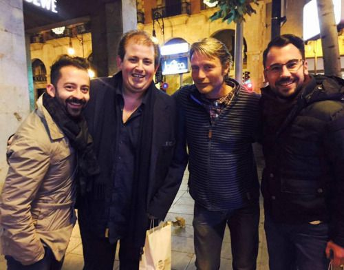 Mads in Plaids in with fans in Palma de Mallorca - España to bring 2016 to a close. (x) (x)