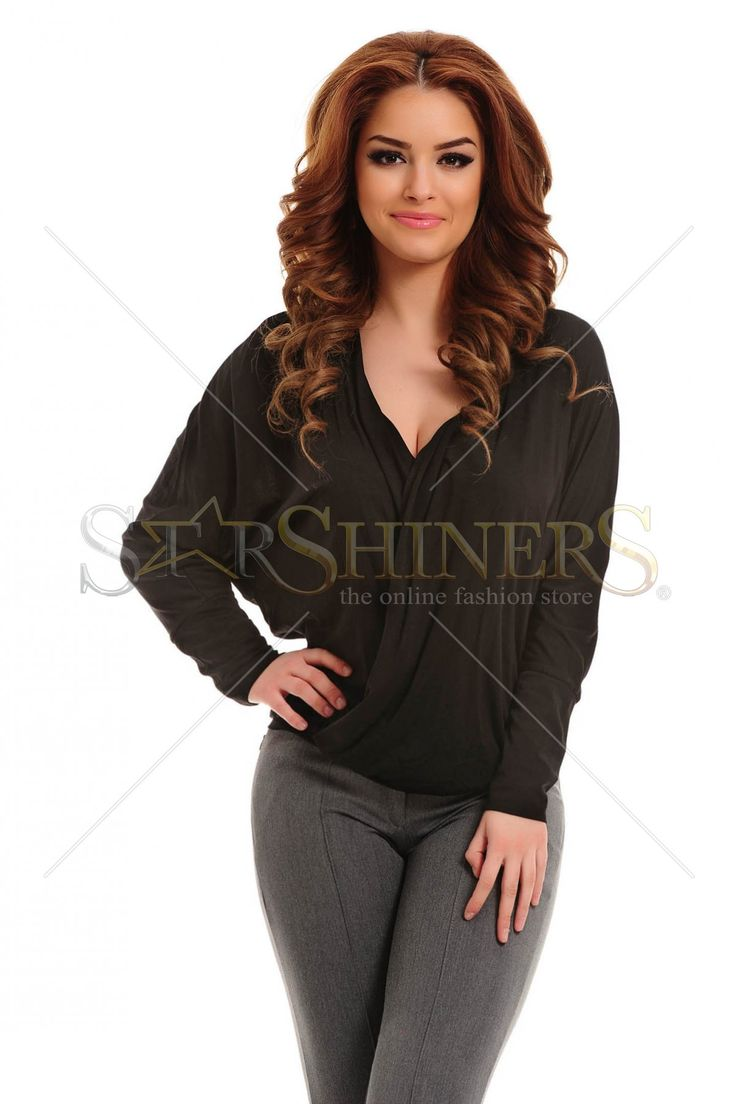 PrettyGirl Queenly Black Blouse