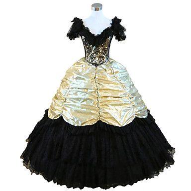 steampunk®civil válka jižní belle šaty plesové šaty halloween party dress 4357826 2016 – $127.99