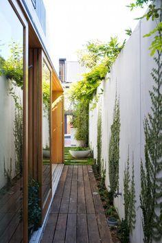 narrow long outdoor yards - Google Search