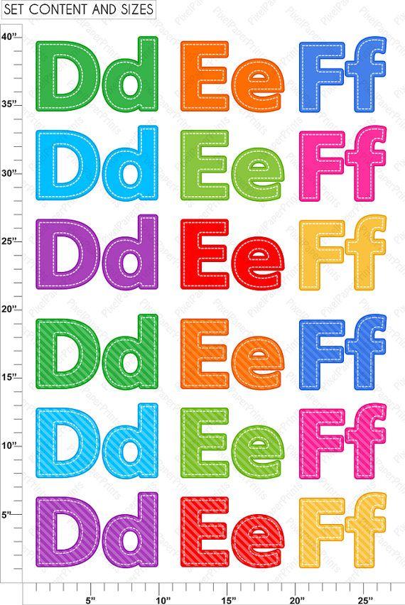 Alphabet Clipart Part 2 ABC clip art DEF by pixelpaperprints
