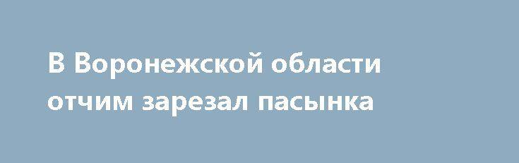В Воронежской области отчим зарезал пасынка http://oane.ws/2017/07/03/v-voronezhskoy-oblasti-otchim-zarezal-pasynka.html  В январе этого года в 43-летний мужчина нанёс серьёзное ножевое ранение своему 18-летнему пасынку. Истекающий кровью молодой человек был найден сотрудниками полиции в одном из посёлков в Воронежской области.