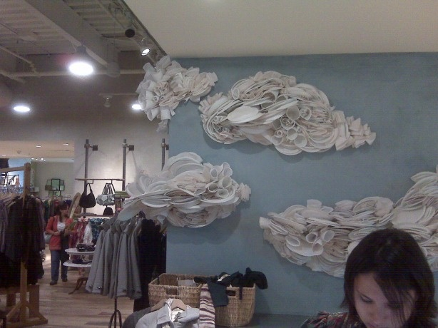 Augh! Just Paper Plates! Dream Big Display? You Go, Anthropologie Display Makers, you go.: Google Image, Anthropology Display, Anthro Cloud, Anthropologiepap Platescup, Anthropology Pap Plates Cups, Paper Plates Art, Cloud Art, Plates Wall, Paper Cloud